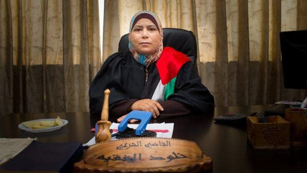 Kholoud Al-Faqih, the first female judge in Palestine