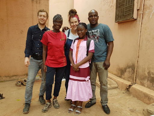Clare Tavernor with Rita Ray and Ami Diabate