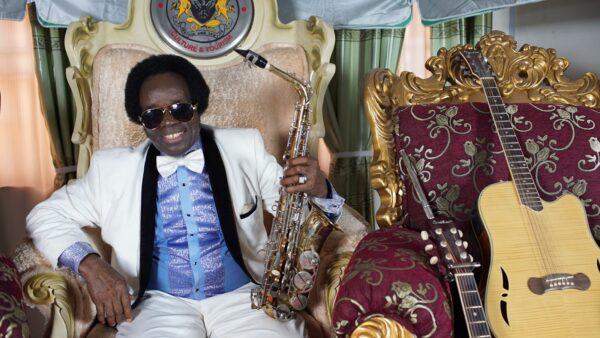Sir Victor Uwaifo at home