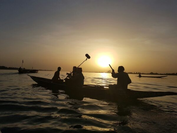 Clare Tavernor filming in Mali